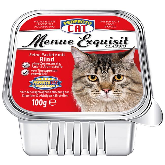 Perfecto Cat Menue Exquisit 100g - Hovězí