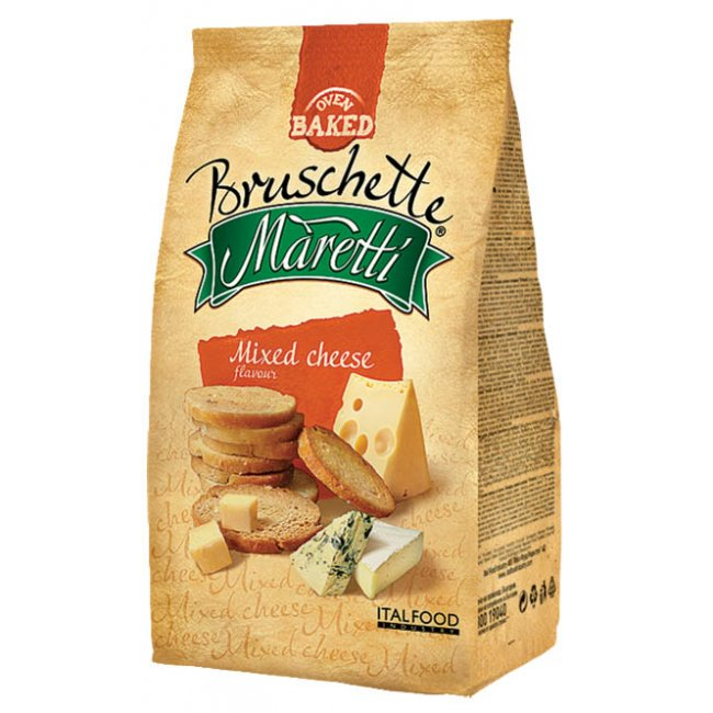 Maretti bruschette chips mix sýrů 70g