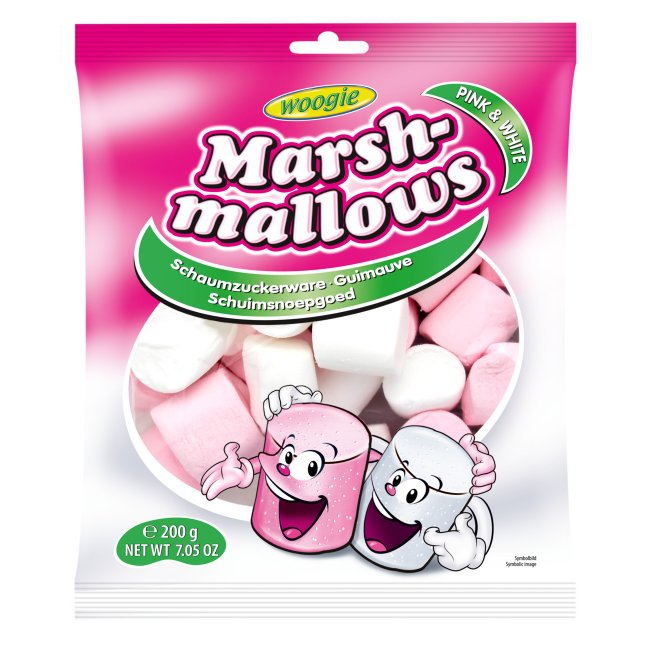 Marshmallows Pink & White 200g
