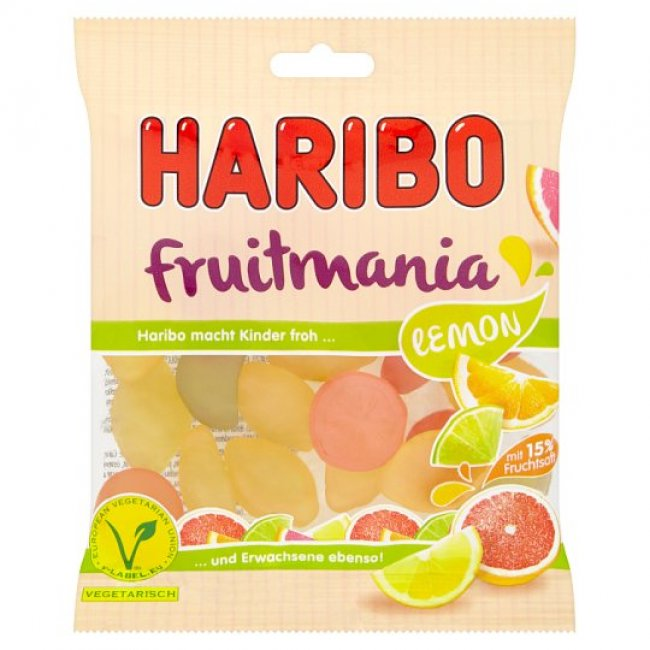 Haribo fruitmania lemon 85g